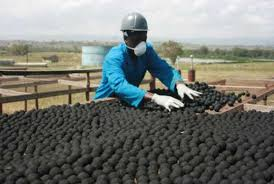 Charcoal from waste
