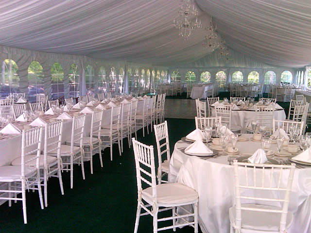 Frame tent wedding 640