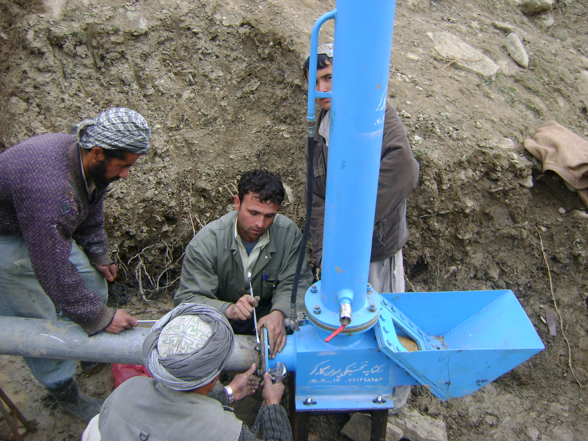 Aidfi ram pump for irrigation manufactured and installed in afghanistan