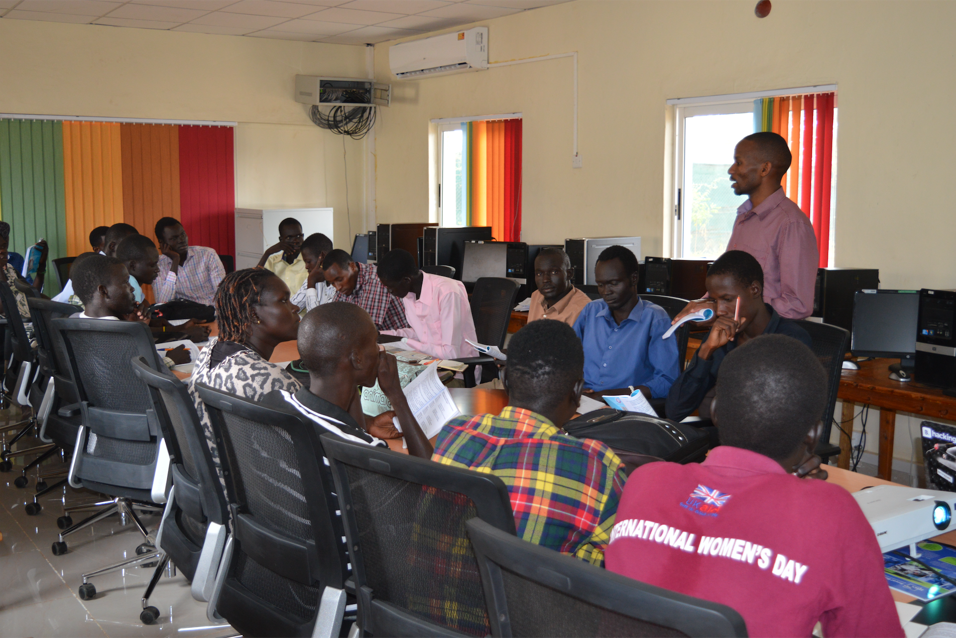 Students at kakuma refugee camp